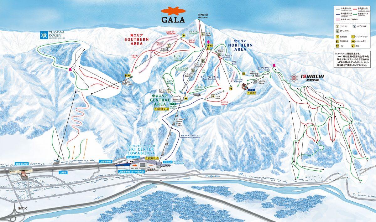 三山コースMAP